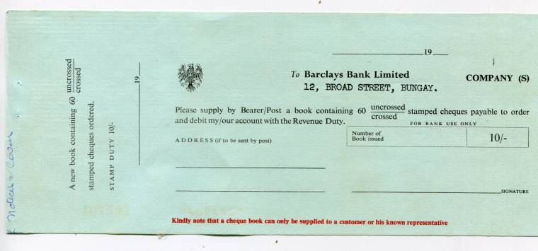 United Kingdom  Original Circa  Unused Barclays Bank Limited