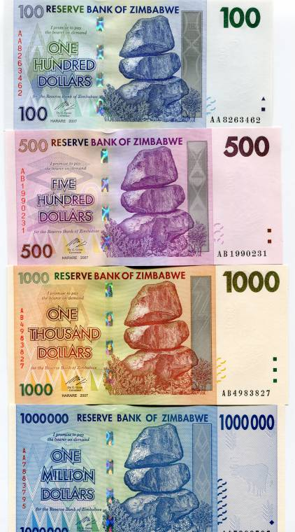 Zimbabwe Scarce 2008 German Printed With Security Strip