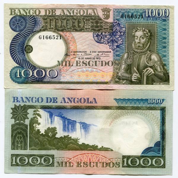1973 Angola 100 Escudos Uncirculated Note