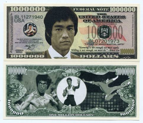 Bitcoin To Western Union >> BRUCE LEE 1 MILLION DOLLARS COLOR NOVELTY MONEY NOTE-FATHER OF MIXED MARTIAL ARTS - Collectors ...