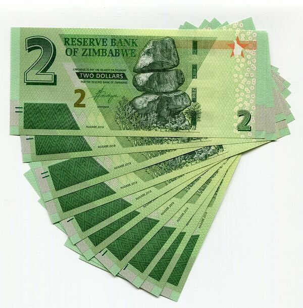 20 x 500 Thousand Zimbabwe Dollars Banknotes 2008 US $2 Dollar Bill 2009 UNC
